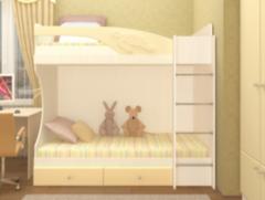 Двухъярусная кровать Регион 058 Бемби МДФ (фасад 3D)