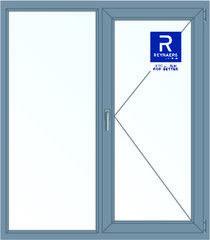 Алюминиевое окно Reynaers 1400*1600 Г+П