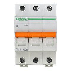 Schneider Electric Автоматический выключатель Домовой ВА63 3П 25A C 4,5 кА 11225