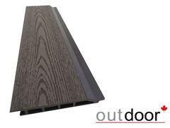 Декинг Декинг Outdoor ДПК 1204 166x20x4000 текстура дерево темно-коричневая