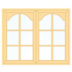 Деревянное окно Сосна для веранды, 1с, Модель 2