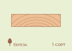 Доска обрезная Доска обрезная Береза 25*100 мм, 1сорт