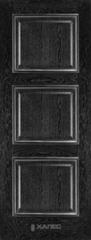 Межкомнатная дверь Межкомнатная дверь Халес Renaissance Триест ДГ (черный+серебро)