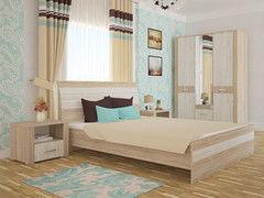Спальня Интерлиния Коламбия-4 (дуб сонома/дуб белый)