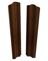 Забор Забор Скайпрофиль Штакетник вертикальный двусторонний М-112 Престиж Бразильский орех