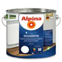 Эмаль Эмаль Alpina Aqua Heizkoerper База 1 0.75 л