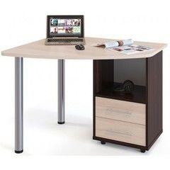 Письменный стол Сокол-Мебель КСТ-102П венге/беленый дуб
