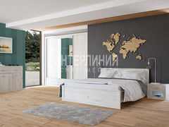 Спальня Интерлиния Лима ЛМ-К160+ЛМ-3Д3Ш+ЛМ-003-24Ш+ЛМ-Т (дуб белый)