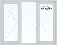Окно ПВХ Montblanc 2060*1420 2К-СП, 3К-П, П/О+Г+П