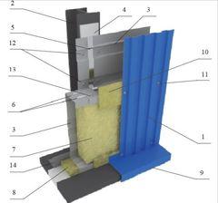Сэндвич панель Сэндвич панель Вертрагия Стеновая кассетная ПК-100 с облицовкой профилированным листом