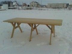 DomPlus Стол из лиственницы сибирской (0,7х2,2 м)