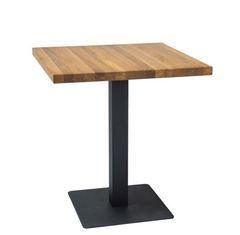 Обеденный стол Обеденный стол Signal Puro 70 (дуб натуральный/черный)