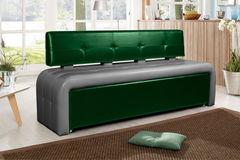 Кухонный уголок, диван ДвериДом Кухонный диван Оскар-2 (графит-изумрд)