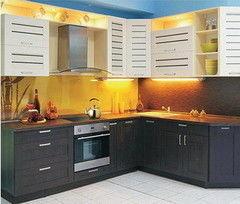 Кухня Кухня на заказ ЗОВ Техно 4 ПП МЕГА крем-венге