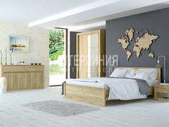 Спальня Интерлиния Лима ЛМ-К160+ЛМ-3Д3Ш+ЛМ-002-15+ЛМ-Т(дуб золотой)