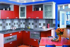 Кухня Кухня ЗОВ Из МДФ покрытого пленкой ПВХ Рубин комби