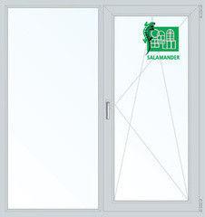 Окно ПВХ Окно ПВХ Salamander Окно ПВХ 1300*1400 2К-СП, 5К-П, П/О+Г