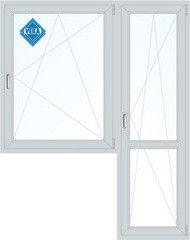 Окно ПВХ Окно ПВХ Veka Softline 1440*2160 2К-СП, 5К-П, П/О+П/О