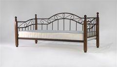 Кровать Кованая кровать Red&Black Глэдис-М (коричневый бархат/темный орех)