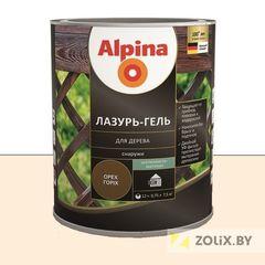 Защитный состав Защитный состав Alpina Лазурь-гель для дерева белый (2,5 л)