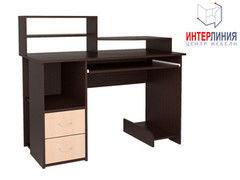 Письменный стол Интерлиния СК-009 Дуб венге+Дуб молочный