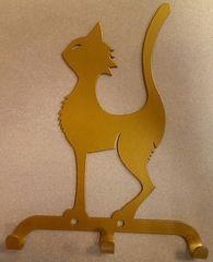 Полкодержатель, крючок Отис-сервис Крючок декоративный Кот (золотой)