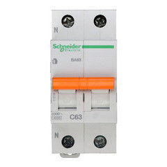 Schneider Electric Автоматический выключатель Домовой ВА63 1П+Н 63A C 4,5 кА 11219