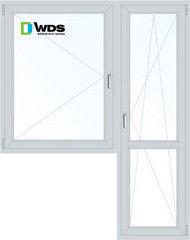 Окно ПВХ Окно ПВХ WDS 1440*2160 1К-СП, 5К-П, П+П/О