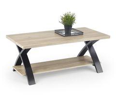 Журнальный столик Halmar Scala (дуб Сан-Ремо/черный)