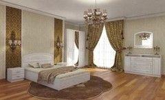 Спальня Настоящая мебель Венеция Жемчуг