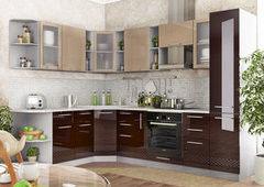 Кухня Кухня ДСВ Мебель Олива капучино/шоколад 3D