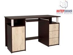 Письменный стол Интерлиния СК-008 Дуб венге+Дуб серый