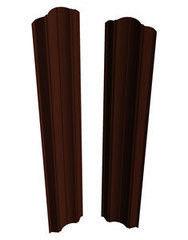 Забор Забор Скайпрофиль Штакетник M-112 рифленый двусторонний Пэ глянцевый RAL8017