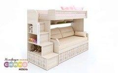 Двухъярусная кровать Сканд Мебель Кембридж-3 с ящиком + Кембридж-1 (кр)