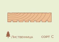 Террасная доска Лиственница 40*140, сорт С
