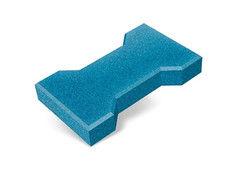 """Резиновая плитка Rubtex Брусчатка """"Катушка"""" 220x130 (толщина 40 мм, голубая)"""