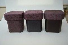 Пуфик Пуфик Вливск-Мебель 35х35х42 см с емкостью для хранения 19