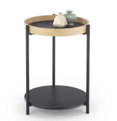 Журнальный столик Halmar Rolo (дуб натуральный/черный)