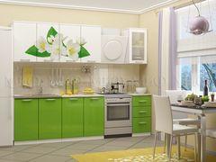Кухня Кухня МиФ Жасмин 2.0 (салатовый металлик)