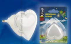 Детский светильник Uniel DTL-308-Сердечко/RGB/3LED/0,5W