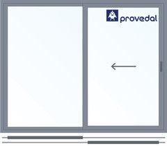 Алюминиевое окно Provedal 2000*1600 раздвижное