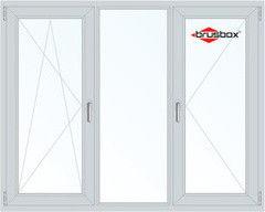 Окно ПВХ Окно ПВХ Brusbox 2060*1420 2К-СП, 3К-П, П/О+Г+П
