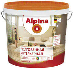 Краска Краска Alpina Долговечная интерьерная База 1 (2.5 л)