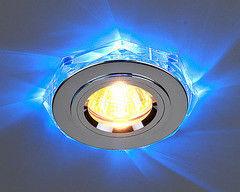 Встраиваемый светильник Elektrostandard 2020/2 SL/LED/BL (хром / синий)
