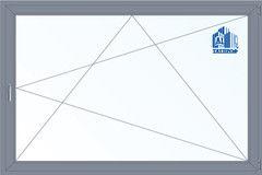 Алюминиевое окно Татпроф 3000*2000 ПО