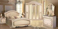 Спальня Слонимдревмебель Моника 5-д (белая, золото)