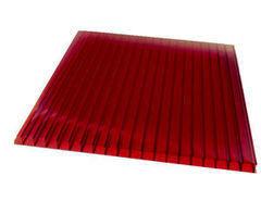 Светопрозрачная кровля Юг-Ойл-Пласт Красный 2100х6000х6 мм