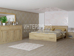Спальня Интерлиния Лима ЛМ-К180+ЛМ-3Д3Ш+ЛМ-Т (дуб золотой)