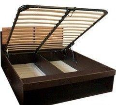 Кровать Кровать Глазовская мебельная фабрика Hyper 2 (1600) с подъемным механизмом (венге-палисандр темный)