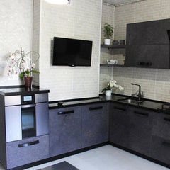 Кухня Кухня AA-Glass Пример 41 (ЛДСП Cleaf)